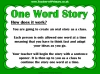 One Word Story Starter Activity (slide 3/9)